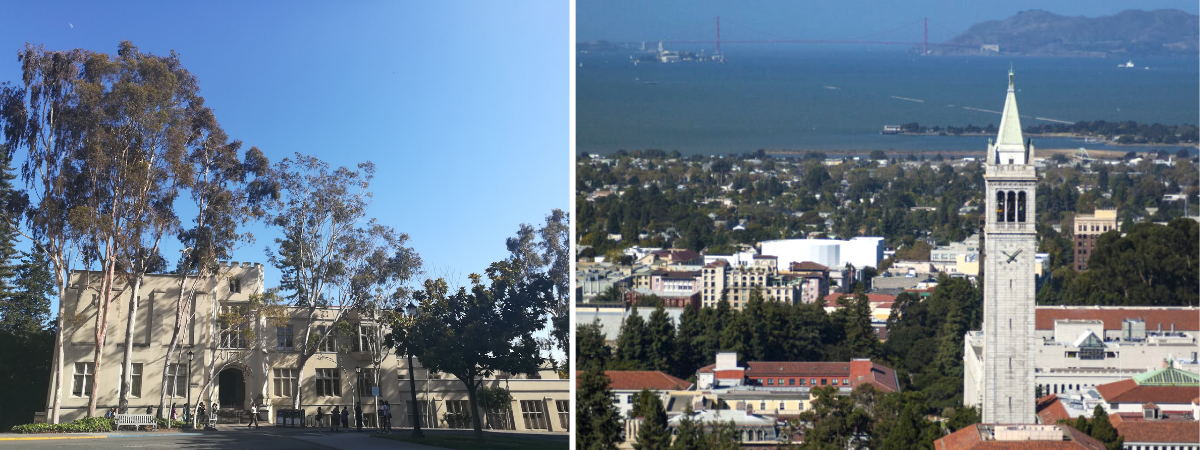 View of Moses Hall and Berkeley Campus
